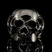 Bikerschmuck Skull Ring aus Sterlingsilber