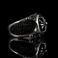 Templer Schmuck Ring mit Zirkonia Steinen aus Silber