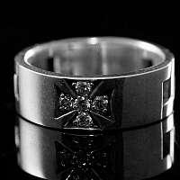 Kleiner Templerkreuz Ring, Templerschmuck
