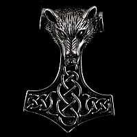 Thors Hammer Anhänger Wolf