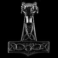 Thors Hammer Anhänger mit Anubis