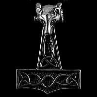 Thors Hammer Anhänger Wolfskopf