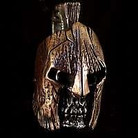 Totenkopf Anhänger mit Spartacus Helm (austauschbar)
