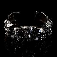 Bikerschmuck Totenkopf Armband mit Tiger