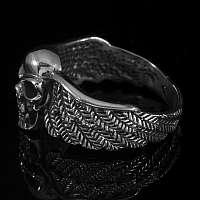 Rocker Schmuck Ring mit seitlichen Flügeln