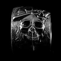 Totenkopf Eheringe Handgefertigt