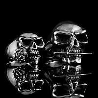 Totenkopfringe Sonderanfertigung 935er Silber