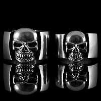 Totenkopfringe handgearbeitet aus massiv 935er Silber