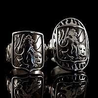 Trauringe, Hochzeitsringe, Eheringe mit Wappen in 935er Silber