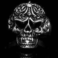 Vampir Totenkopf Biker Ring