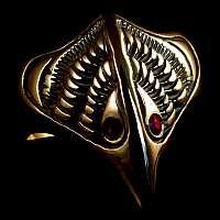 Vogel Ring aus Gold mit Rubinen