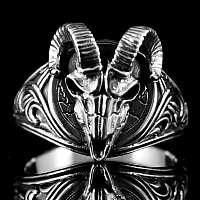 Widder Ring aus Sterling Silber