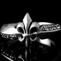 Zierlicher Fleur de Lis Ring, Biker Schmuck